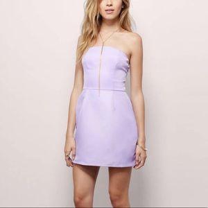 Tobi | Lavender Strapless Dress | Small